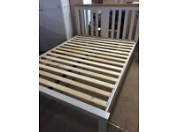 Ex-display**Grey and oak 5ft bed frame