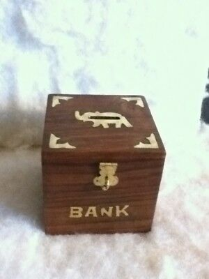 Rusticity Wood Piggy Bank For Kids And Adults Elephant
