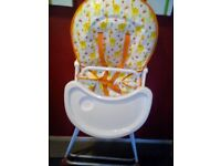 lovley high chair for sale