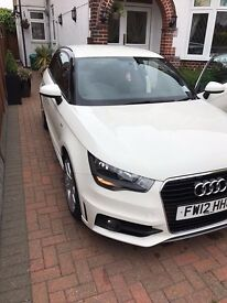 White Audi A1 S-Line, Automatic, Bluetooth phone & Media, 2 Keys, Air Con, LED Light Package.