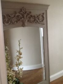 HUGE french style shabby chic mirror