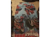 spiderman bedding and curtains