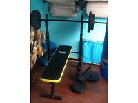 Everlast folding weights bench