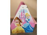 Disney princess book rack and chalk board