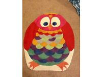 Colourful owl mat