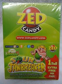 Zed Candy Sour Jawbreakers, Box of 30 x 6 Ball Packs