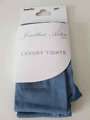 Jonathan Aston London 60 Denier Luxury Tights in Damask Blue Medium M RRP £10