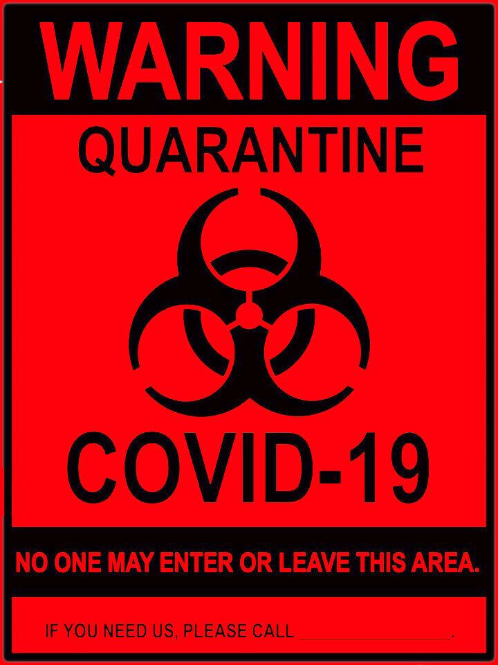 STOP COVID Virus Warnings Pandemic Signs Quarantine Sticker Vinyl Decal 3-045R - $3.74