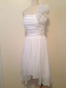 White Formal Dress (Small) Party/Wedding