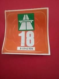 Swiss motorway pass vignette