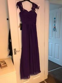 Cadbury purple bridesmaids dresses