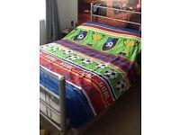 Double duvet, pillowcases, curtains,shade, lamp, canvas