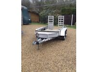 Mini digger plant trailer