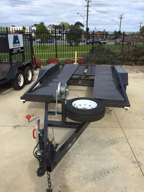 Ft tandem axle basic car carrier trailer with brake