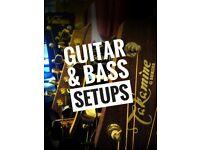 Quality Guitar & Bass Setups (Electric & Acoustic, Repairs, Restringing, Restoration)