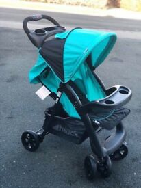 Exdisplay Hauck shopper Neo pram pushchair buggy stroller ideal for holiday AQUA BLUE lightweight
