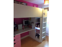 IKEA STUVA loft bed/ cabin bed, white and pink, FREE DELIVERY