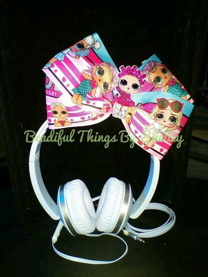 Headphones With Lol Surprise Doll Jojo Style Bow In