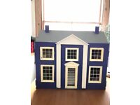 Lovely dolls House plus four le toy van furniture sets plus original family (6 members) for sale.