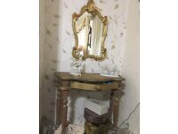 French style console and mirror