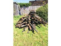 free hardcore garden rubble bricks (drive/soak away) +wood wooden timber lengths building materials