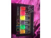 Set of 6 neon nail varnish colours