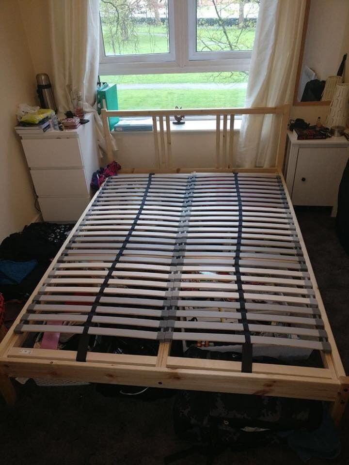 Ikea bed frame + foam mattress Morgedal + slatted bed base Lönset ...