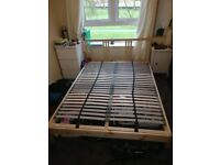 Ikea bed frame + foam mattress Morgedal + slatted bed base Lönset