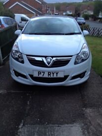 Limited edition white corsa 2010 recently new tires, well looked after