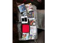 nintendo 2ds in red and white