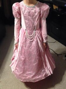 Pink princess gown with cape size M (5-6)