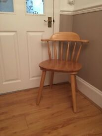 Lovely Solid Pine Desk/Dressing Table Chair. Captain Style