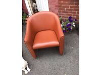 Tan Leather Tub Chairs