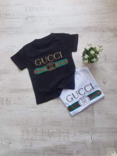 Toddler T shirt Girl Boy tshirt unisex top classic vintage logo gucci logo print