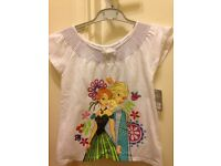 Frozen Anna and Else Top, Brand New with Tags 7-8 years
