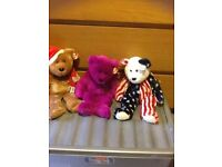 Beanie babies for sale a good collection all still with tags on over 50 -)