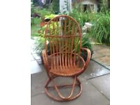 Bamboo Vintage Rocking Chair