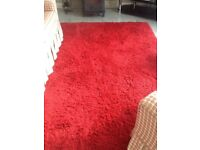 Red rugs 1 runner and 1 large