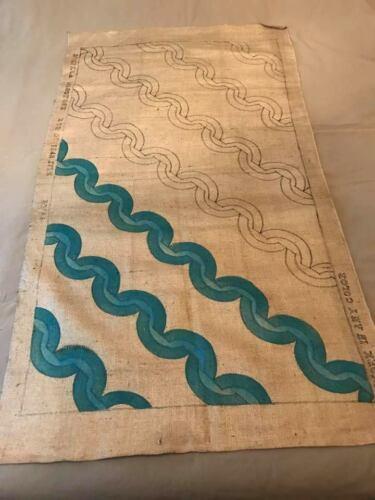 Vintage Bucilla Burlap Rug Pattern