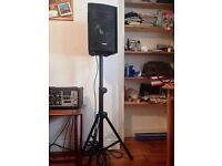 2 x SKYTEC Passive Speakers and 2 x VONYX speakers stands FOR SALE
