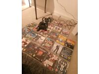 PS3 playstation 3 with 25 games 2 controllers all wires