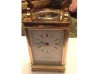 Carriage clock brass
