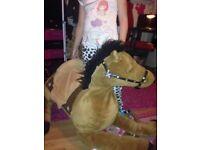 large plush horse 110cm