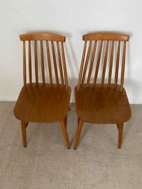 Two Ercol Style Dining Chairs