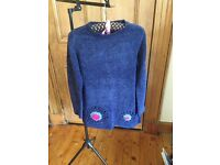 Rolled Neck Jumper with Embroidedred Detail