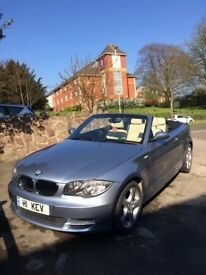 58 plate BMW 1 convertible