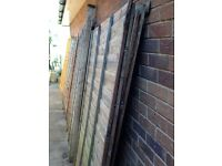 Free to collector 4 Broken Wooden Fence Panels