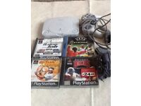 PlayStation one slim with games and accessories
