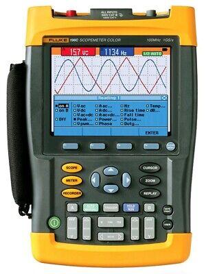 Fluke 196c Digital Color Scopemeter Oscilloscope 100 Mhz 1 Gss Handheld