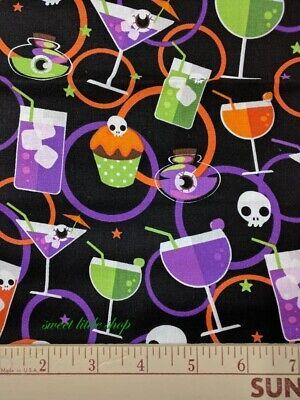 Fun Halloween Drinks (Halloween Happy Hour Fun Margarita Drink Eyeball Cocktails Cupcakes Fabric)